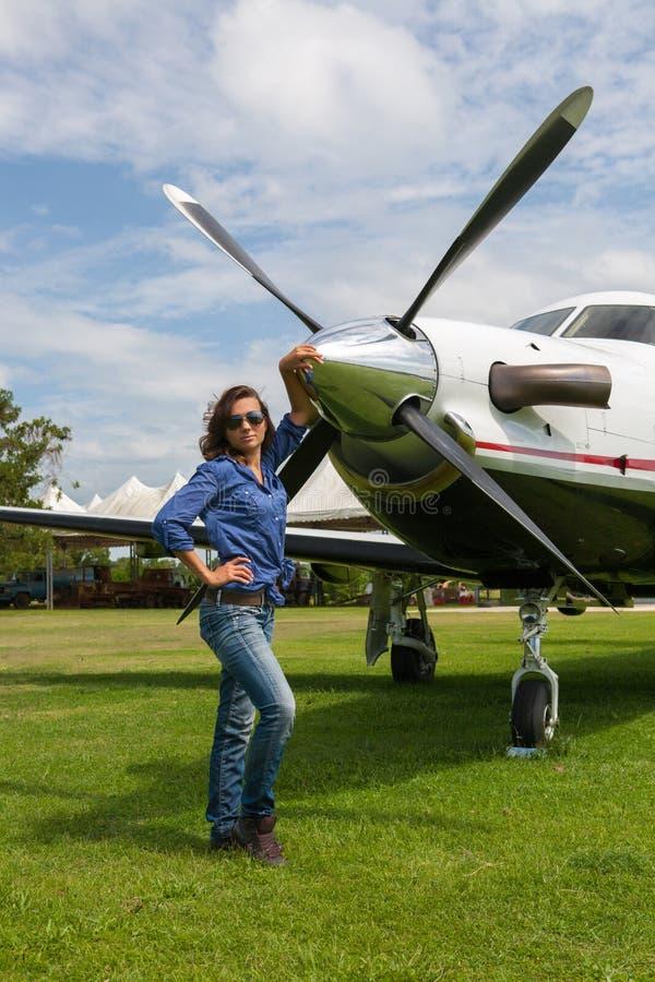 Kobieta pilot zdjęcia stock