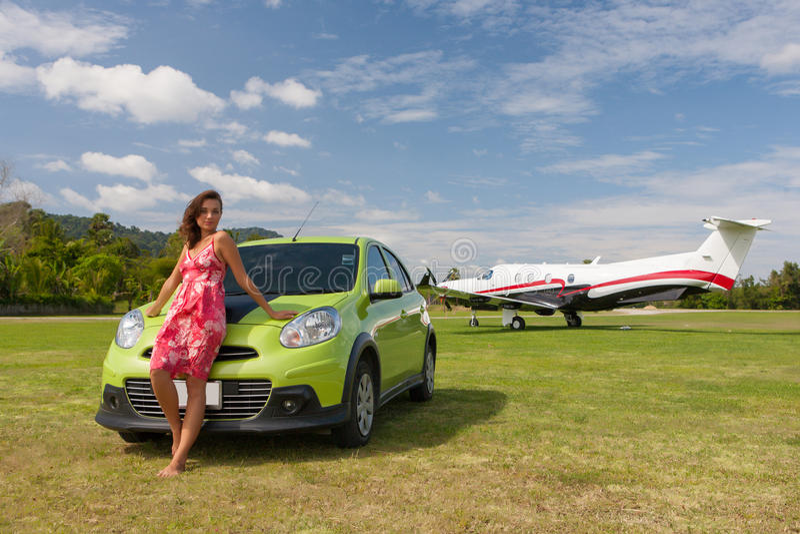 Kobieta pilot obrazy stock