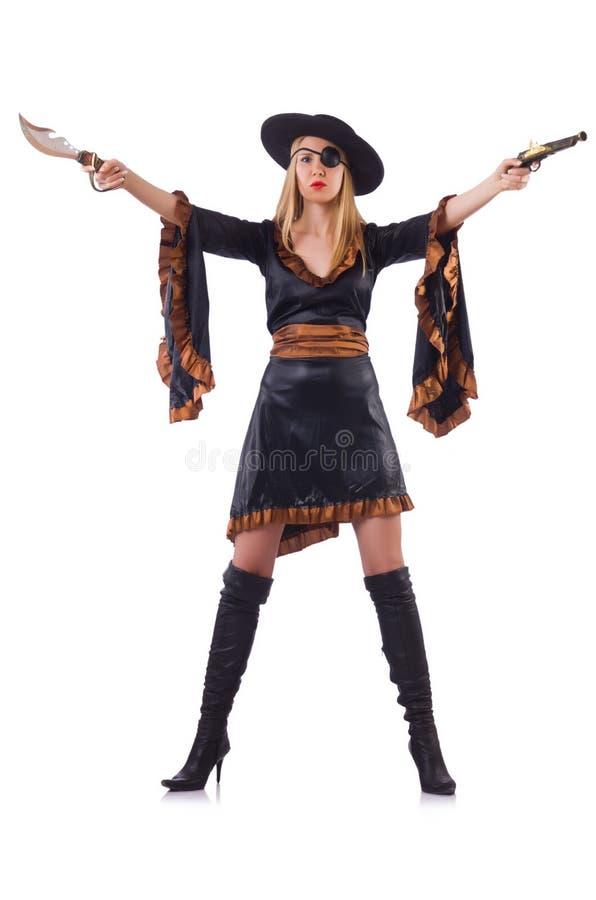 Kobieta pirat obrazy royalty free