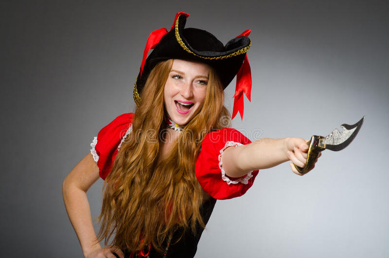 Kobieta pirat obraz royalty free