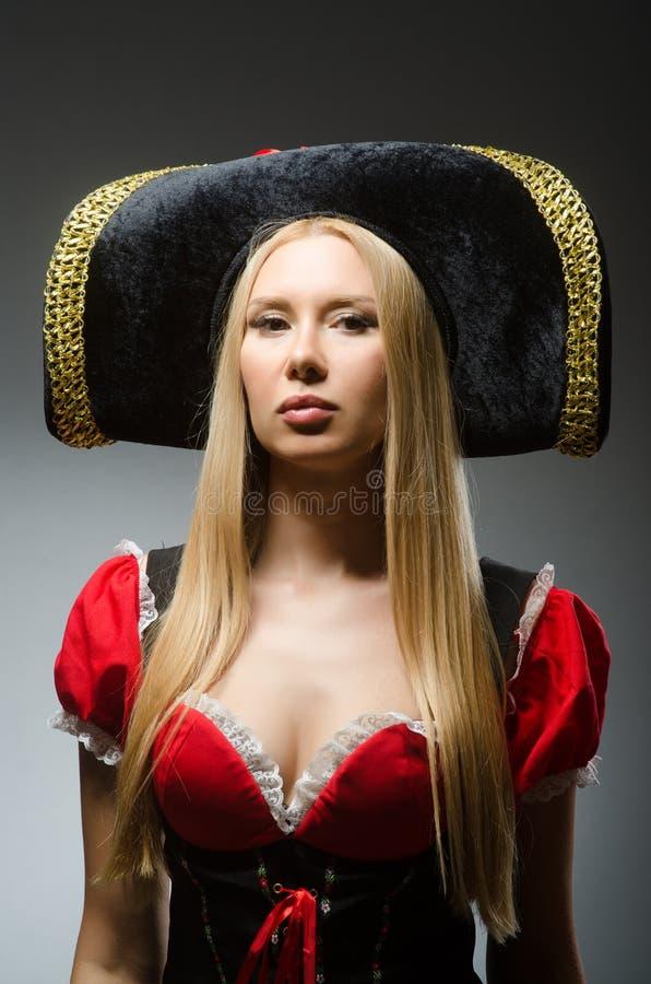 Kobieta pirat przeciw zdjęcie royalty free