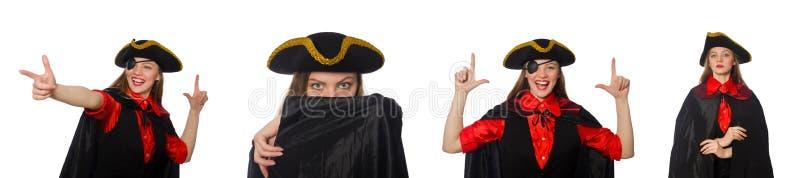 Kobieta pirat w różnorodnych pojęciach zdjęcie royalty free