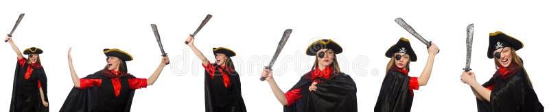 Kobieta pirat w różnorodnych pojęciach zdjęcia royalty free