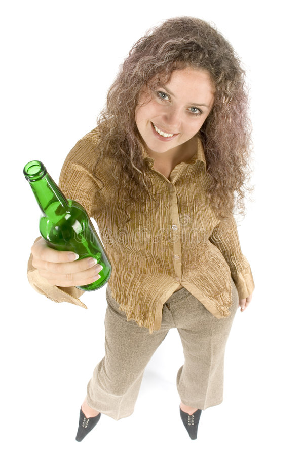 kobieta piwa zdjęcie stock