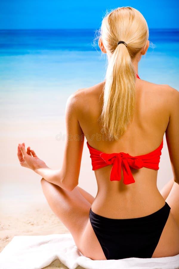 kobieta plażowa obrazy stock