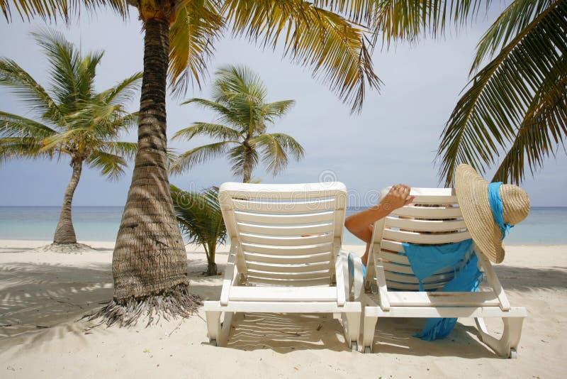 kobieta plażowa zdjęcia stock