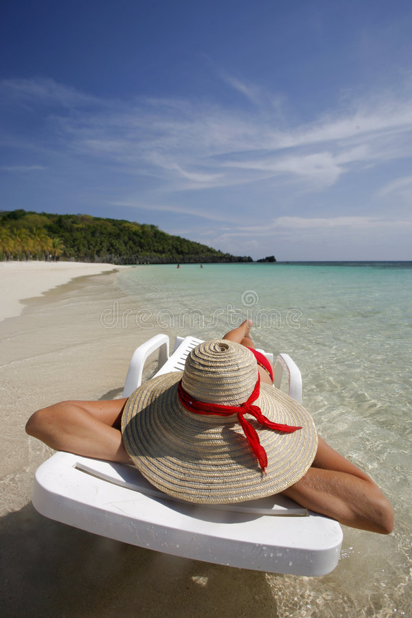 kobieta plażowa zdjęcia royalty free