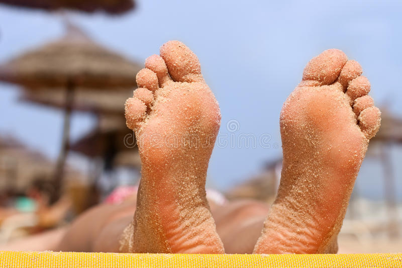 kobieta plażowi cieki zdjęcie stock