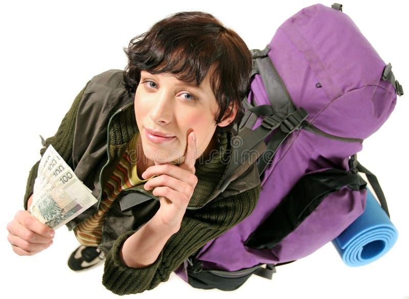 kobieta plecak obrazy stock