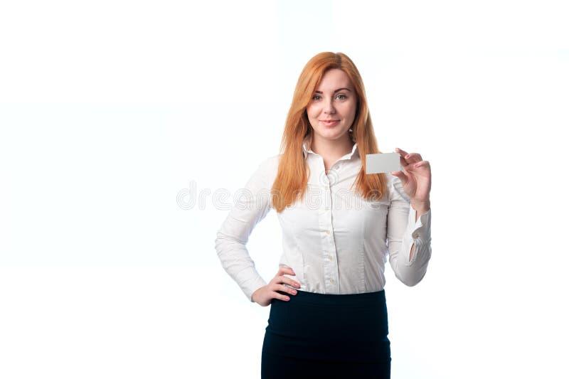 Download Kobieta Pokazuje Jego Wizytówkę Obraz Stock - Obraz złożonej z globalny, tylko: 53788033