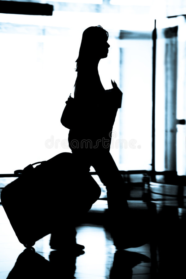 kobieta portów lotniczych zdjęcia royalty free