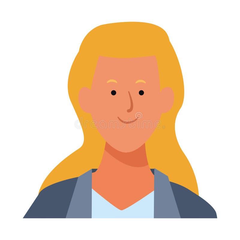 Kobieta portreta avatar ilustracja wektor