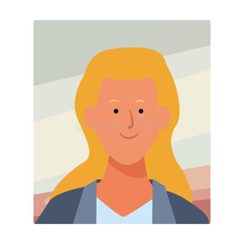 Kobieta portreta avatar ilustracji