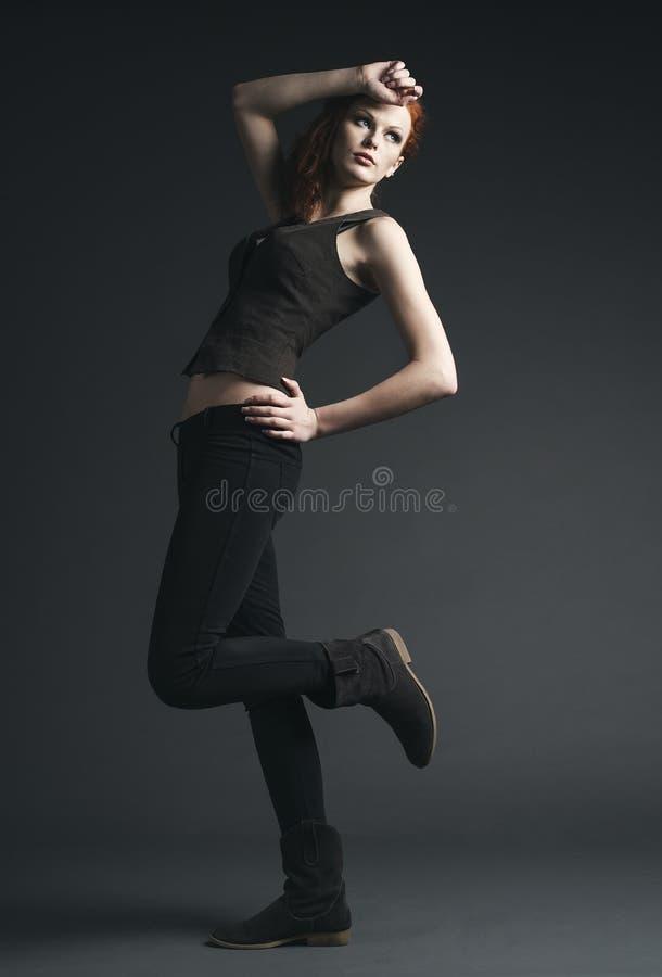 Kobieta pracowniany moda portret zdjęcie stock