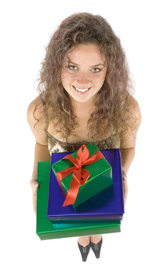 kobieta prezent obraz royalty free