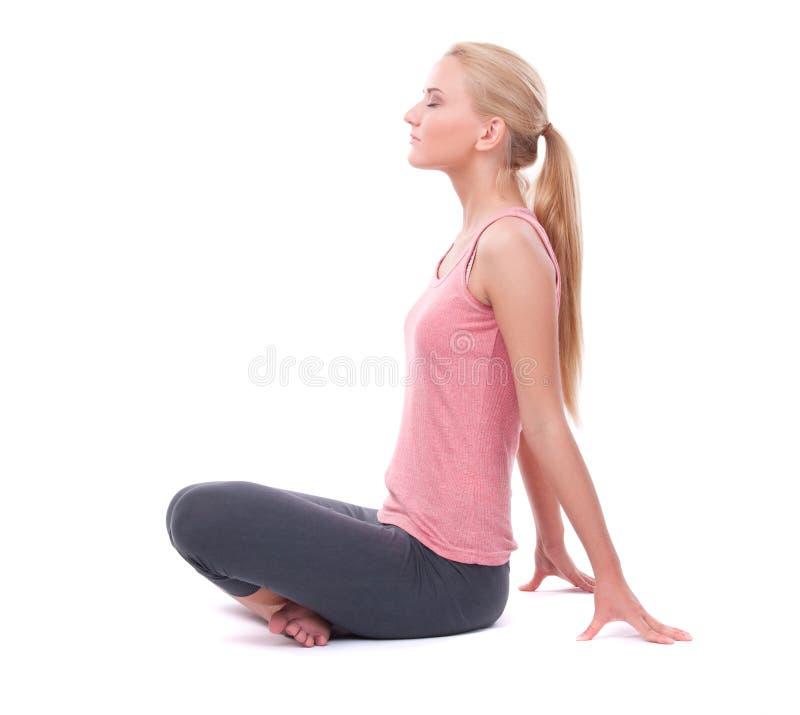 Download Kobieta robi joga obraz stock. Obraz złożonej z dorosli - 28969501