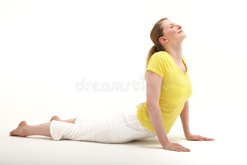 Kobieta robi pchnięciu podnosi zdjęcie stock