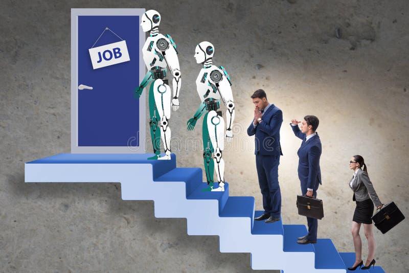 Kobieta robota i mężczyzny konkurowanie dla prac obrazy stock