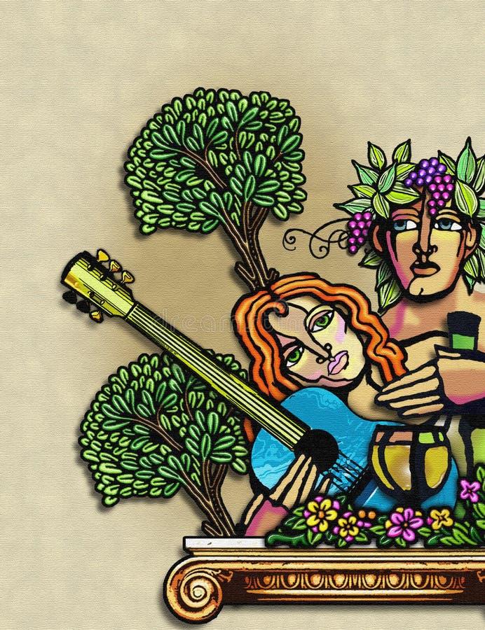 kobieta rocznego ludzi raju royalty ilustracja