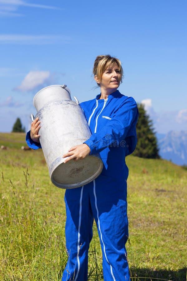 Kobieta rolnik z dużym bertha obrazy stock