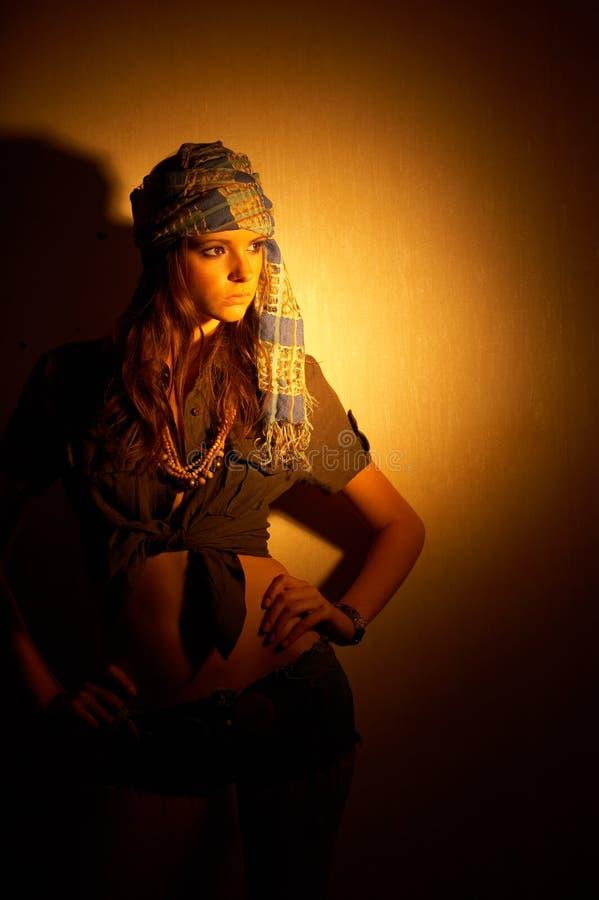 kobieta safari fotografia royalty free