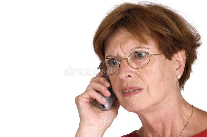 kobieta seniora telefonu obrazy royalty free