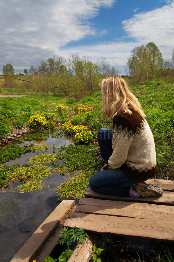 kobieta sibir smutku fotografia stock