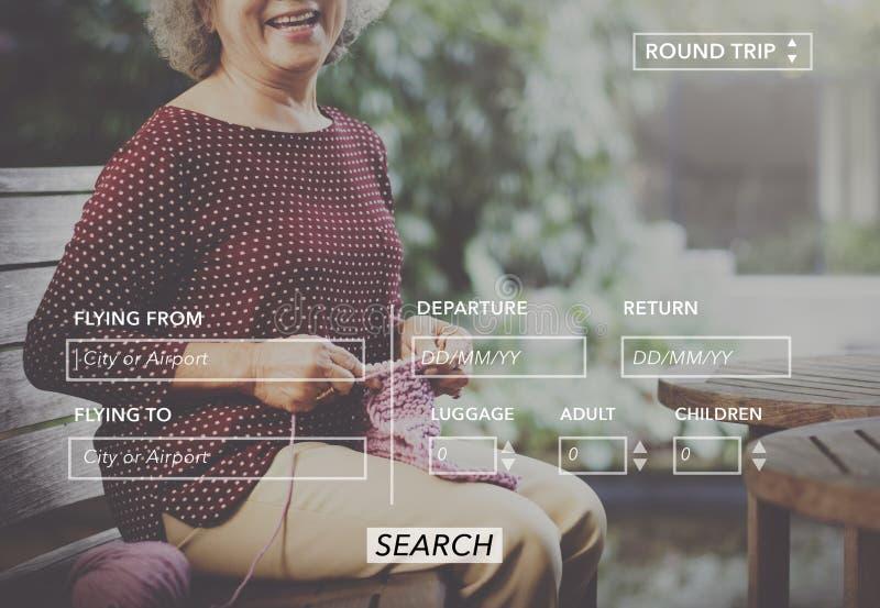 Kobieta Siedzi Uśmiechniętego ikona symbolu grafiki pojęcie fotografia stock