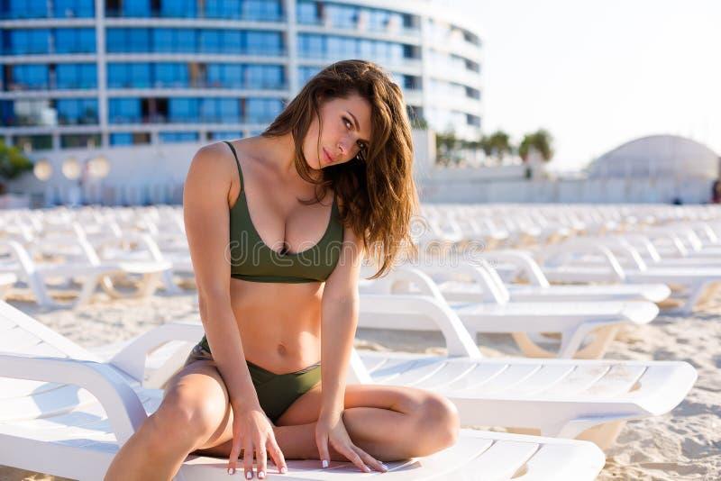 kobieta skórnicza plażowa obrazy royalty free