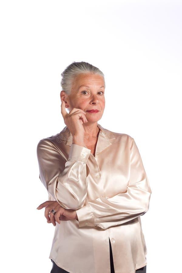 kobieta starsza wykonawczy obrazy stock