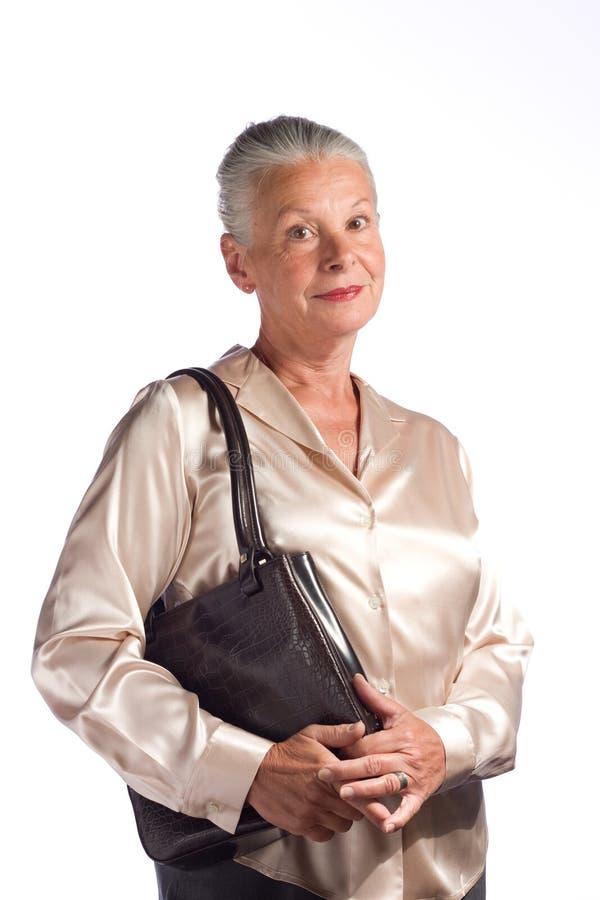 kobieta starsza wykonawczy obraz stock
