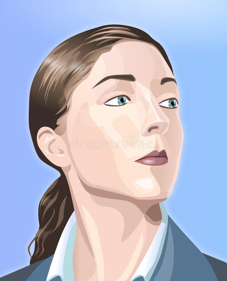 kobieta surowej royalty ilustracja