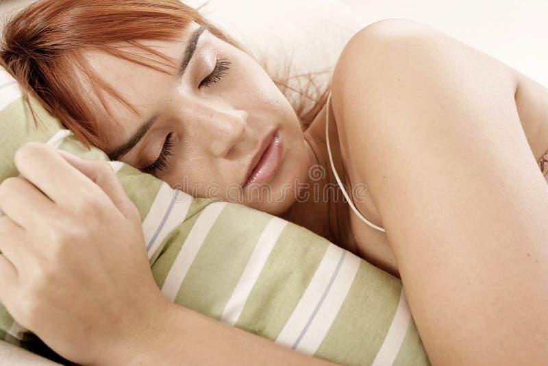 kobieta sypialna fotografia stock
