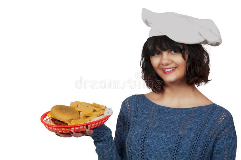 Kobieta szef kuchni fotografia stock