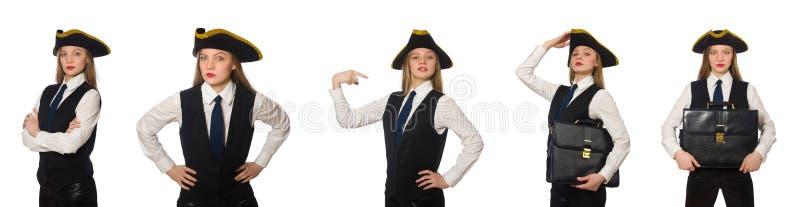 Kobieta szefa pirat obraz stock