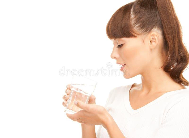 kobieta szklankę wody obraz stock
