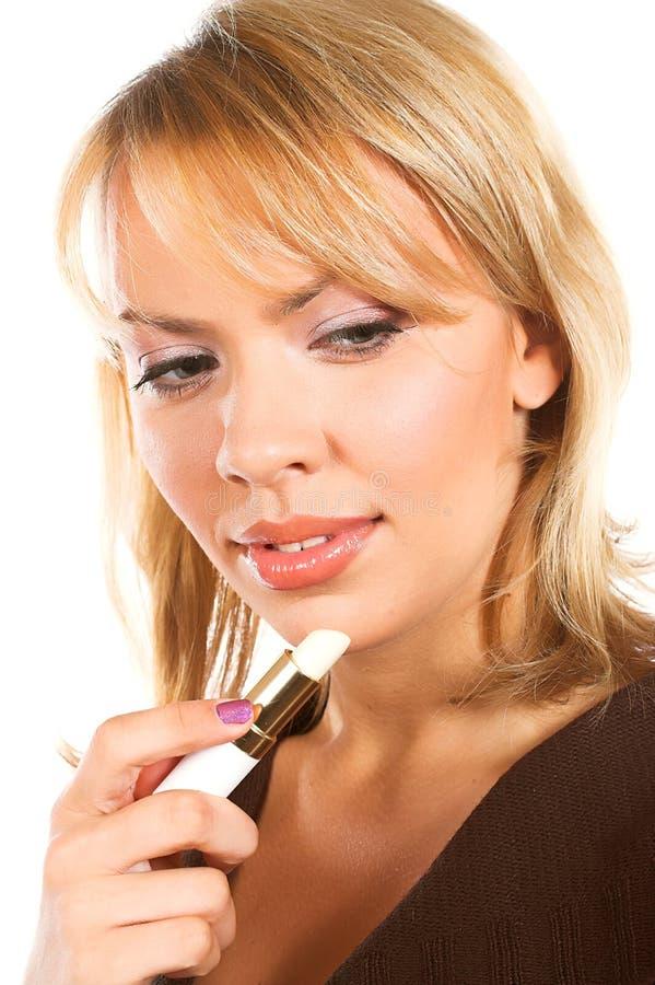 kobieta szminkę obrazy royalty free