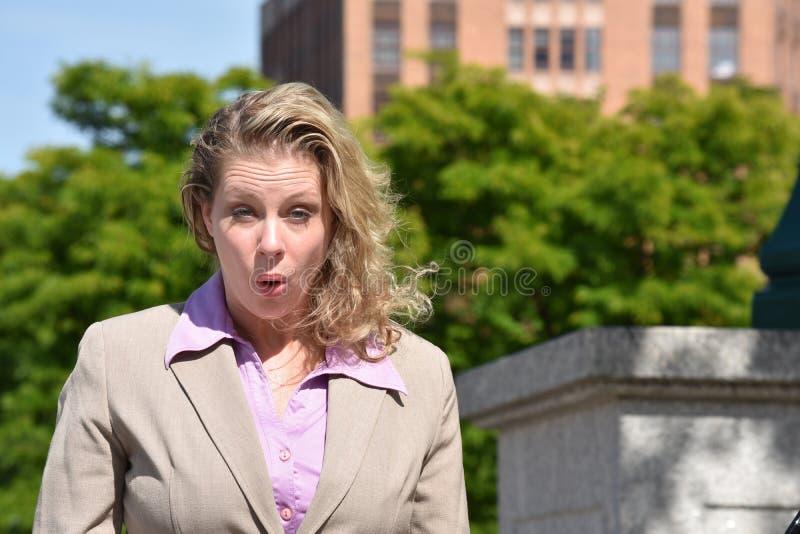 kobieta szokująca sprawa zdjęcia stock