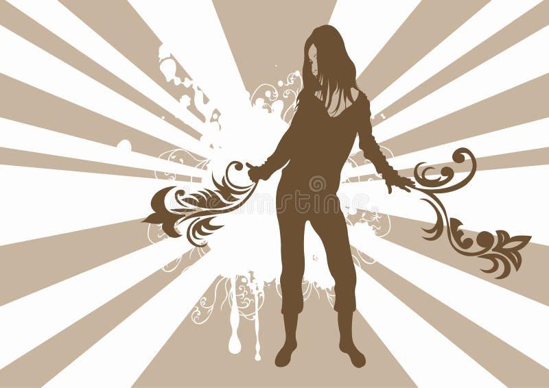 kobieta tańcząca ilustracja wektor