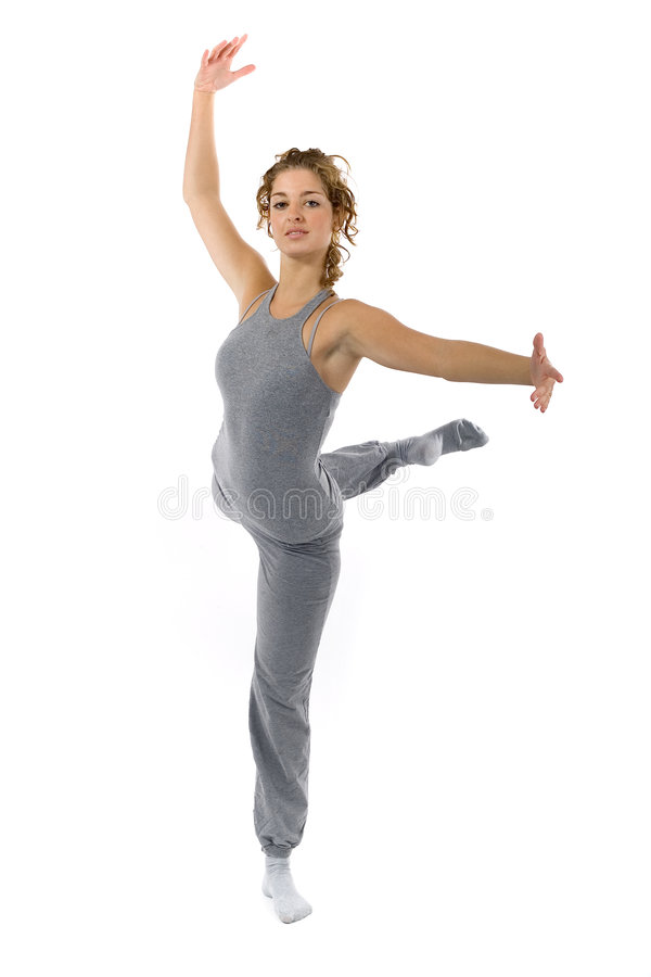 kobieta tańcząca zdjęcie stock