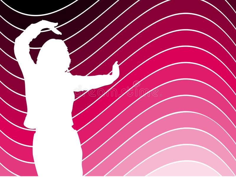 kobieta tańcząca ilustracji