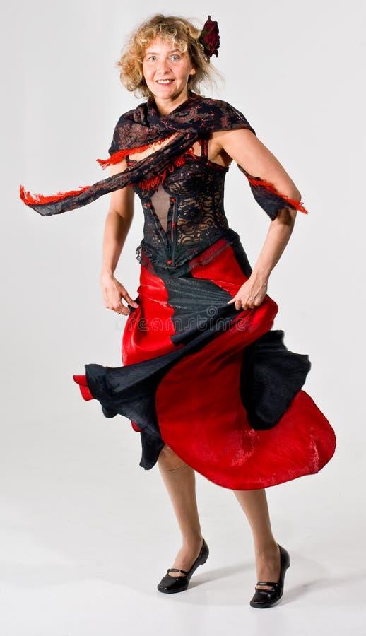 kobieta tańcząca fotografia royalty free