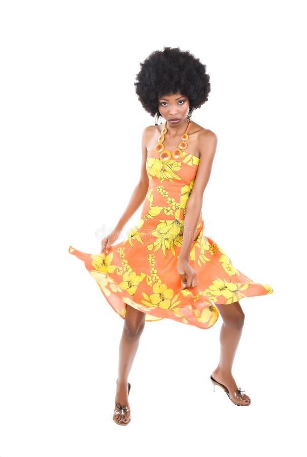kobieta tańcząca afrykański obraz royalty free