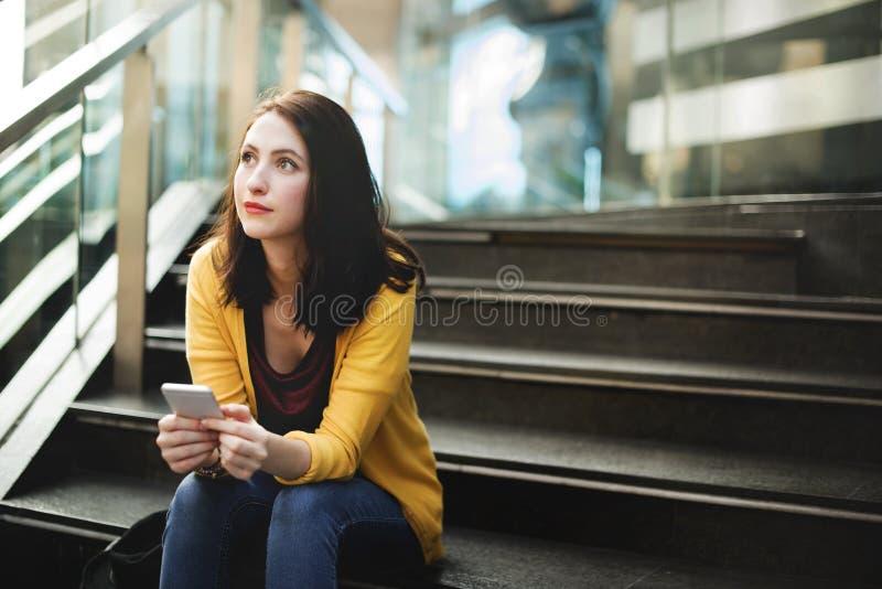 Kobieta telefon komórkowy zdjęcie stock