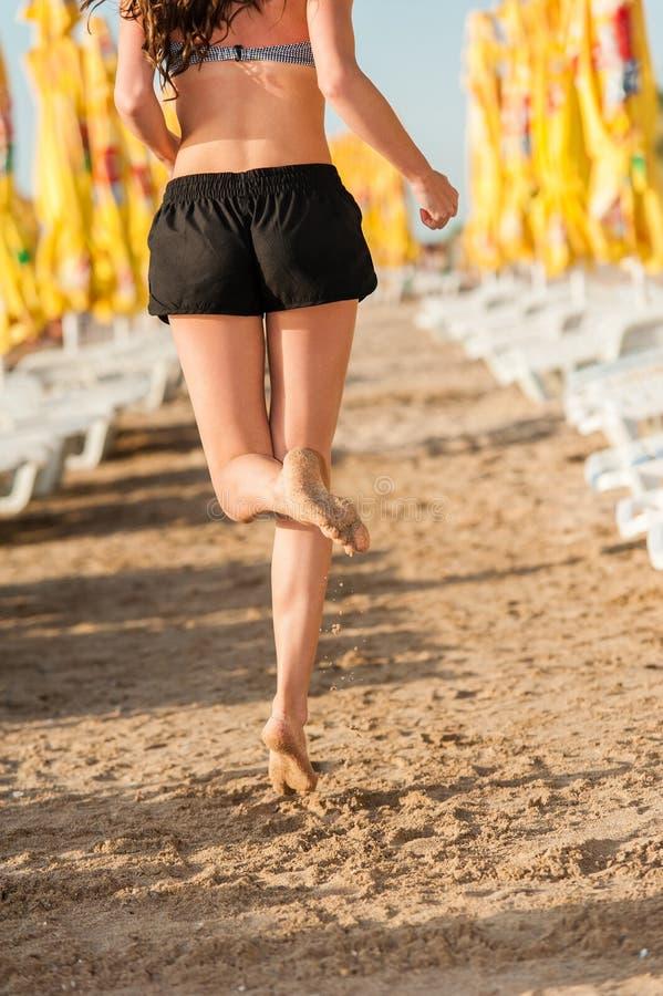 kobieta tocznej plażowa zdjęcia stock