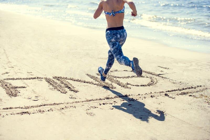 kobieta tocznej plażowa obraz royalty free