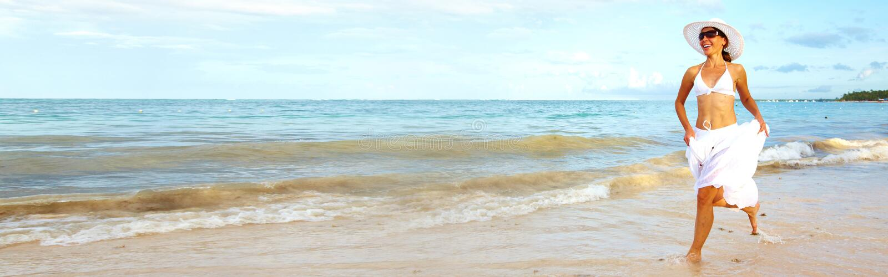 kobieta tocznej plażowa obrazy royalty free