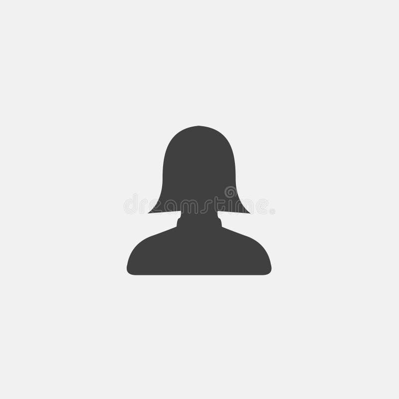 Kobieta użytkownika ikona ilustracji