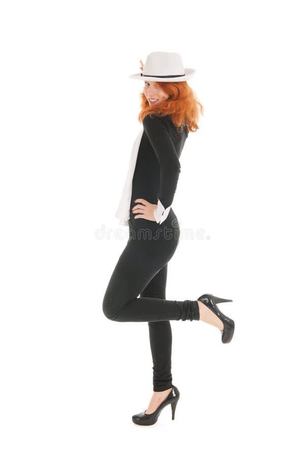 Kobieta ubierająca dla przyjęcia fotografia stock