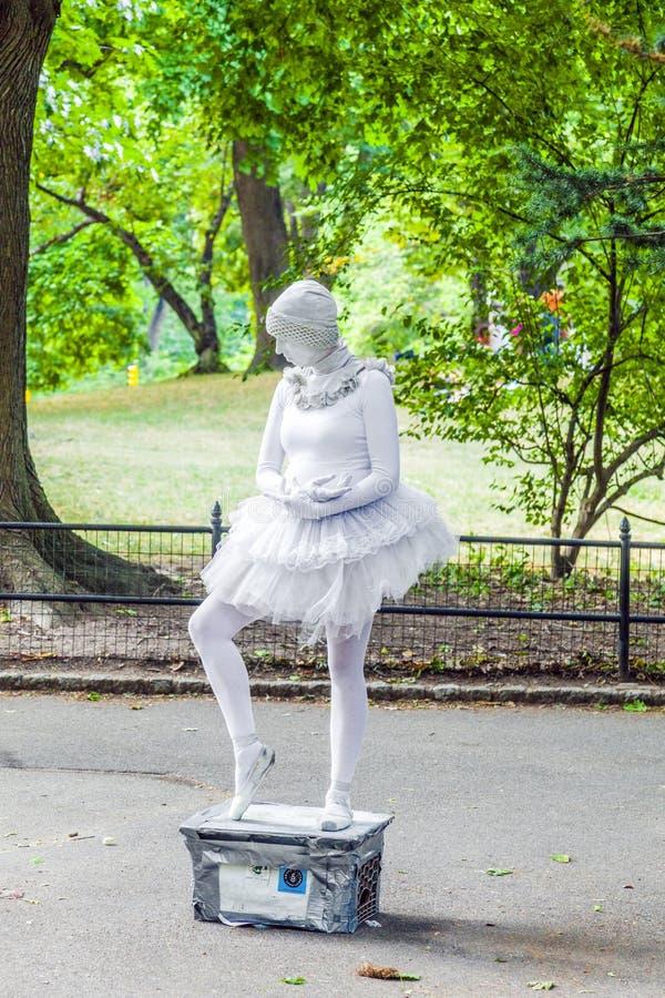 Kobieta ubierająca jako baletniczy tancerz fotografia royalty free